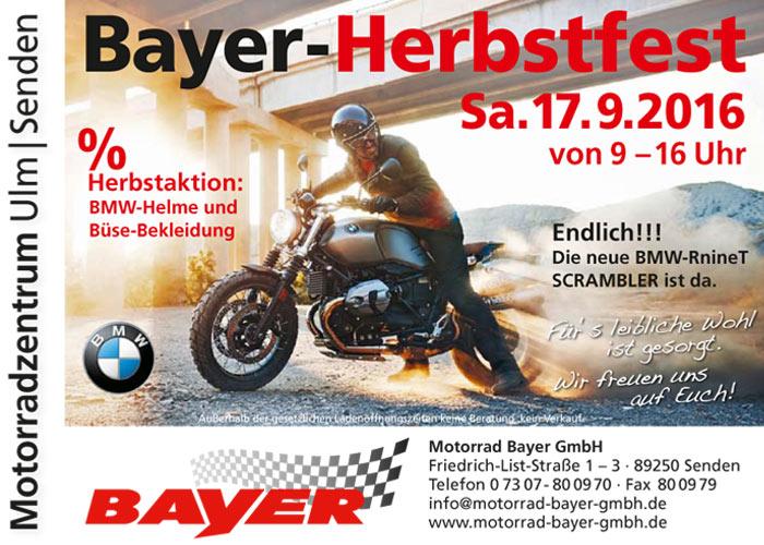 Herbstfest 2016 im Motorradzentrum Ulm/ Senden