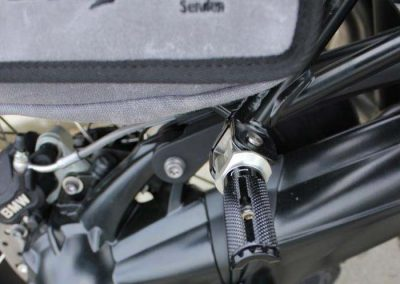 BMW R nineT Scrambler Umbau – Fußrastenanlage Sozius