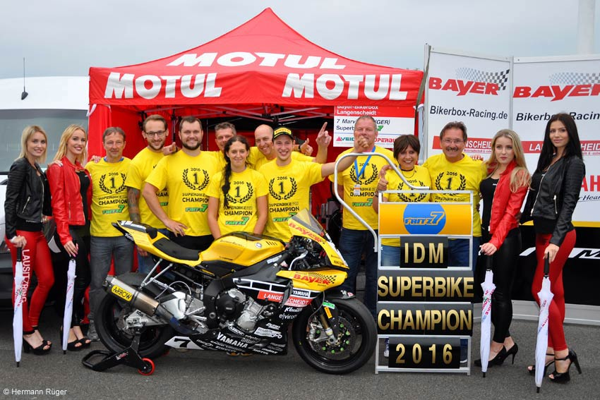 Marvin Fritz - Team Motorrad Bayer Bikerbox Langenscheidt - Racing - IDM SUPERBIKE CHAMPION 2016