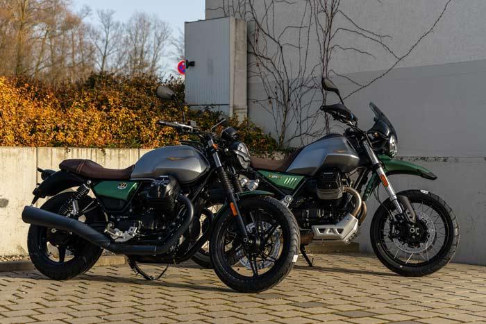 Moto Guzzi V7 und V85 TT Centenario Sondermodelle 2021
