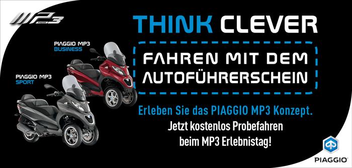 PIAGGIO MP3 probefahren bei der Motorrad Bayer GmbH in Ulm/ Senden