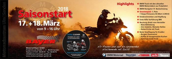 Saisonstart 2018 im Motorradzentrum Ulm/ Senden
