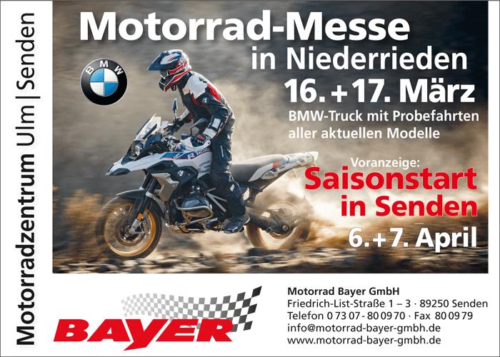 Saisonstart 2019 Vorankündigung - Motorrad Bayer GmbH Ulm/Senden