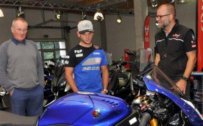 Sandro Cortese bei Motorrad Bayer in Senden