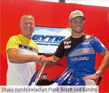 Shake Hands zwischen Frank Bosch und Sandro