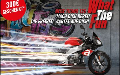 Aprilia Führerschein-Promotion → 300.– € Führerschein-Zuschuss